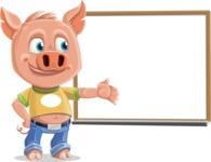 Cute Piglet Cartoon Vector Character AKA Paul the Little Piglet - Presentation 3