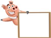 Pig with a Tie Cartoon Vector Character AKA Smokey Hans - Presentation 5