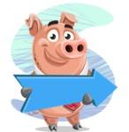 Pig with a Tie Cartoon Vector Character AKA Smokey Hans - Shape 8