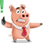 Pig with a Tie Cartoon Vector Character AKA Smokey Hans - DirectAttention 2