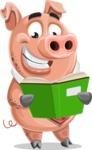 Pig with a Tie Cartoon Vector Character AKA Smokey Hans - Book 1