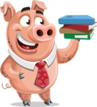 Pig with a Tie Cartoon Vector Character AKA Smokey Hans - Book 2