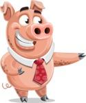 Pig with a Tie Cartoon Vector Character AKA Smokey Hans - Showcase