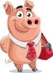 Pig with a Tie Cartoon Vector Character AKA Smokey Hans - Travel 2