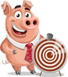 Pig with a Tie Cartoon Vector Character AKA Smokey Hans - Target