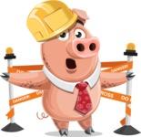 Pig with a Tie Cartoon Vector Character AKA Smokey Hans - Under Construction 2