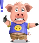 Pig with T-Shirt Cartoon Vector Character AKA Ricky the Happy Piggy - DirectAttention 2