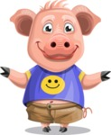 Pig with T-Shirt Cartoon Vector Character AKA Ricky the Happy Piggy - Sorry