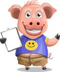 Pig with T-Shirt Cartoon Vector Character AKA Ricky the Happy Piggy - Notepad 1