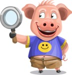 Pig with T-Shirt Cartoon Vector Character AKA Ricky the Happy Piggy - Search