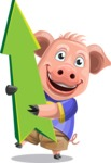 Pig with T-Shirt Cartoon Vector Character AKA Ricky the Happy Piggy - Pointer 1
