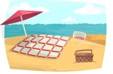 Vintage Beach Picnic