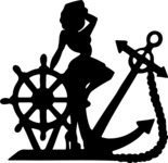 Sailor Pin-up Girl Silhouette