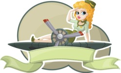 Military Girl Badge