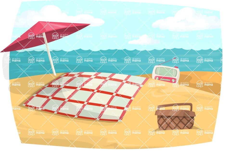 Pin Up Vectors - Mega Bundle - Vintage Beach Picnic