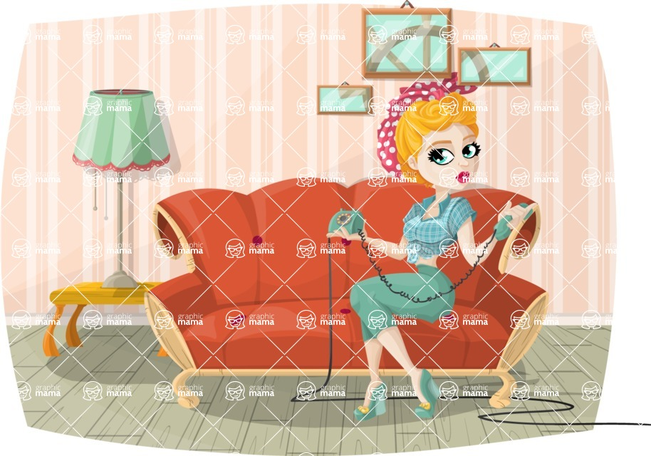 Pin Up Vectors - Mega Bundle - Housewife at Home