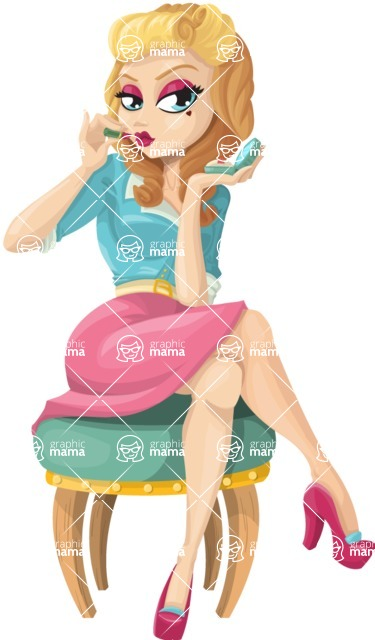 Pin Up Vectors - Mega Bundle - Pretty Pin-up Girl