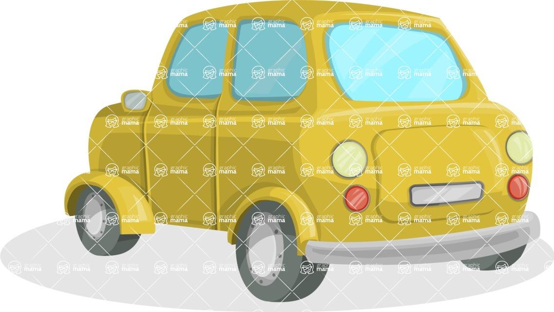 Pin Up Vectors - Mega Bundle - Mini Retro Car