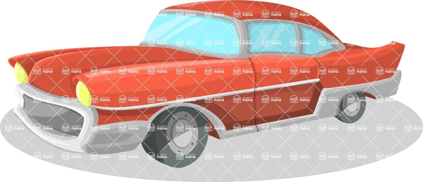 Pin Up Vectors - Mega Bundle - Vintage Chevy Car