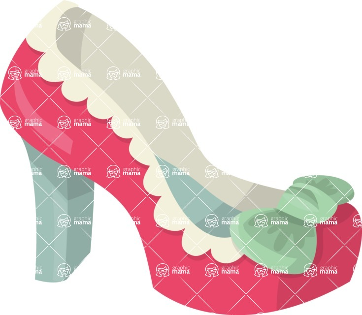 Pin Up Vectors - Mega Bundle - Pin Up High Heel Shoe