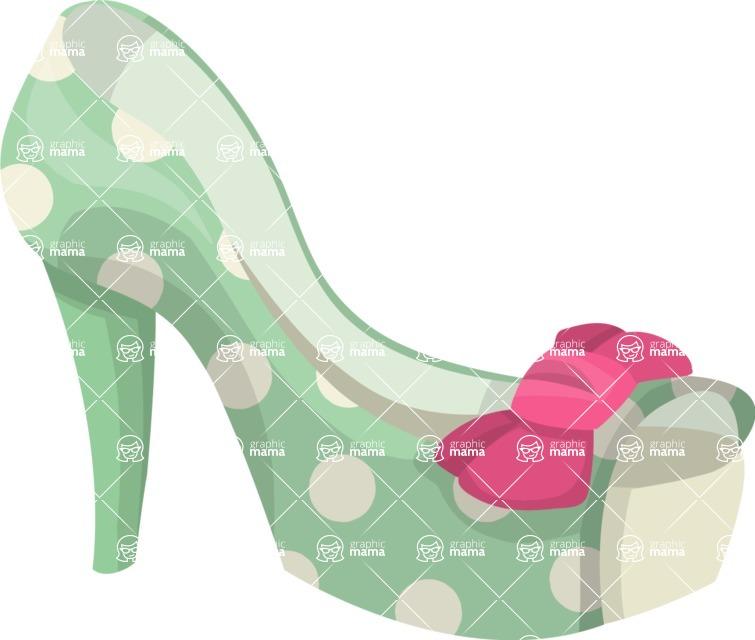 Pin Up Vectors - Mega Bundle - Open Toe Pin-up Shoe