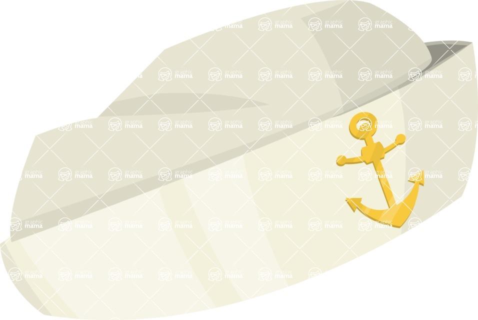 Pin Up Vectors - Mega Bundle - Sailor Hat with Anchor