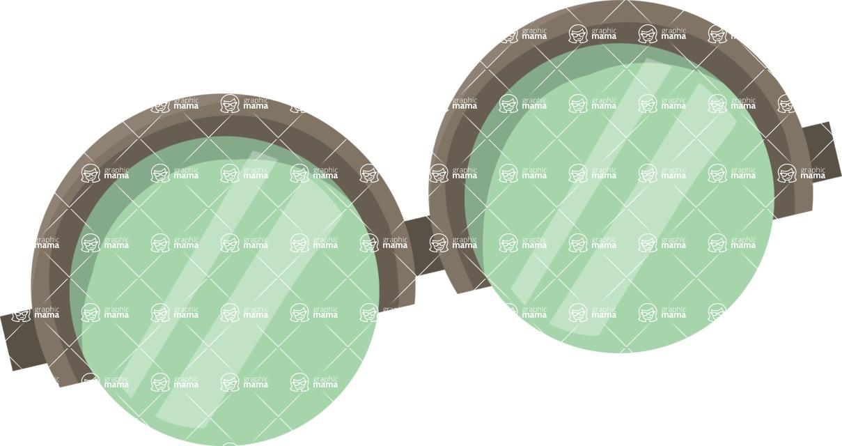 Pin Up Vectors - Mega Bundle - Vintage Round Sunglasses