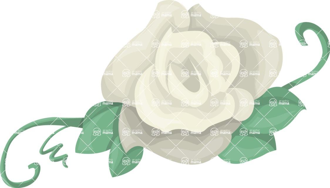 Pin Up Vectors - Mega Bundle - White Rosebud