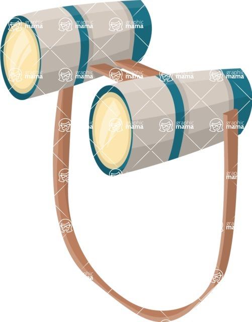 Pin Up Vectors - Mega Bundle - Binoculars