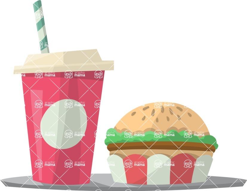 Pin Up Vectors - Mega Bundle - Fast Food