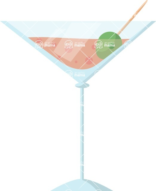 Pin Up Vectors - Mega Bundle - Martini Cocktail