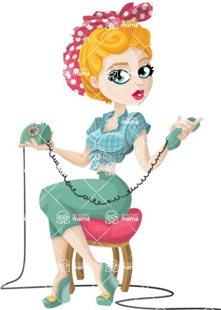 Pin Up Vectors - Mega Bundle - Pin-Up Housewife