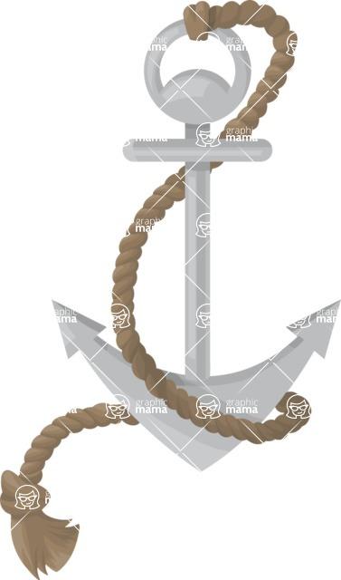 Pin Up Vectors - Mega Bundle - Anchor with Rope 2