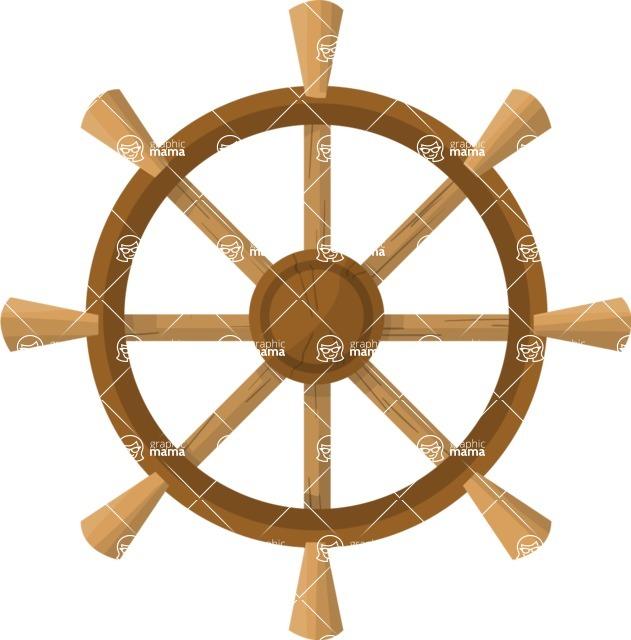 Pin Up Vectors - Mega Bundle - Boat Wheel