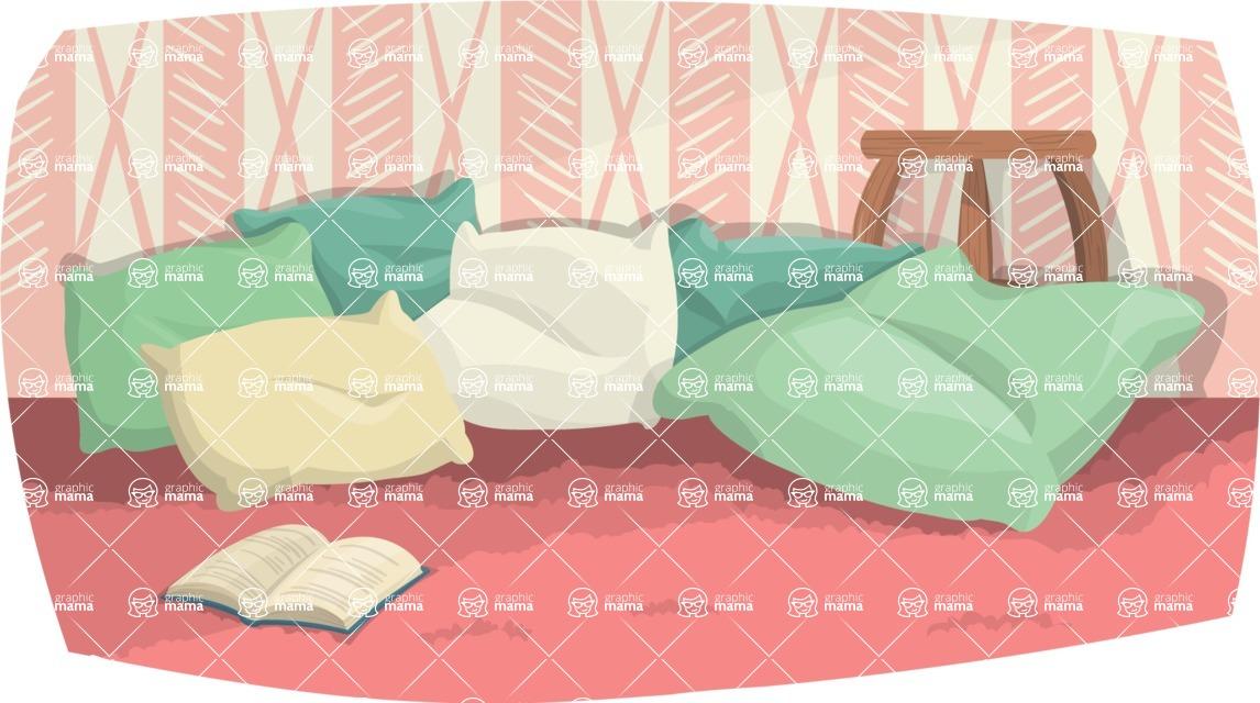 Pin Up Vectors - Mega Bundle - Pillows on the Floor