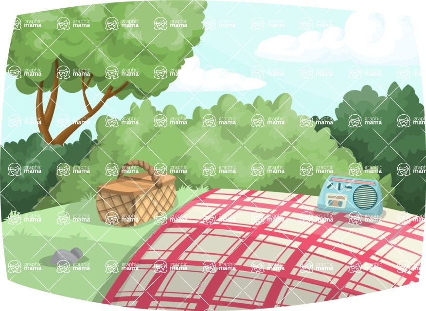 Pin Up Vectors - Mega Bundle - Picnic in Nature