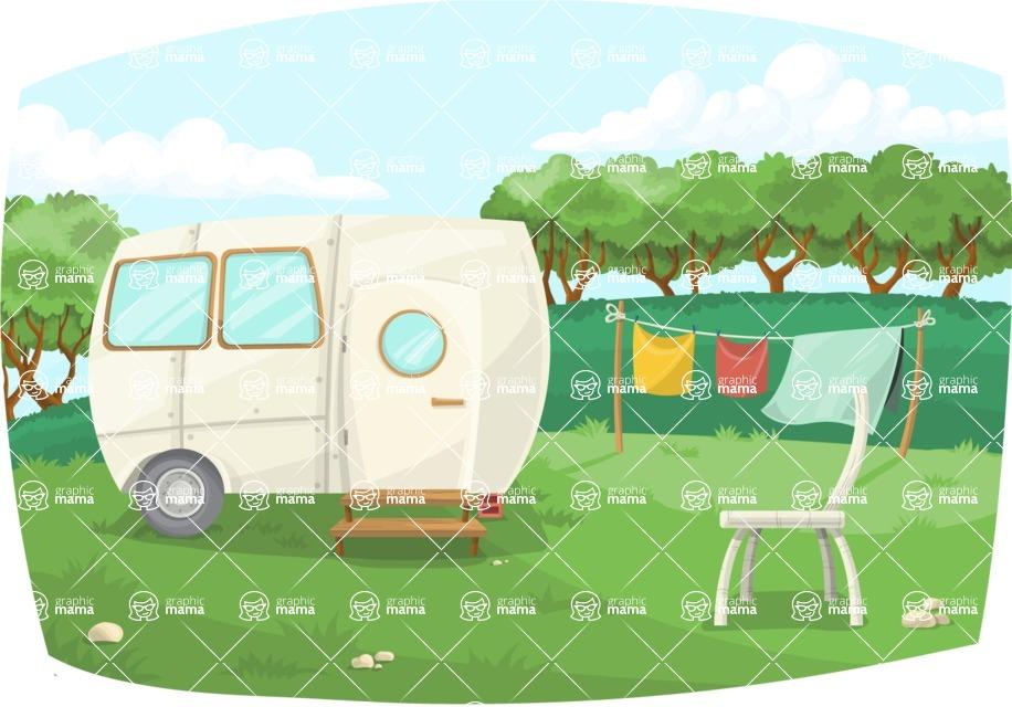 Pin Up Vectors - Mega Bundle - Vintage Caravan Outdoors | GraphicMama