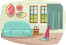 Pin Up Vectors - Mega Bundle - Living Room Vintage Style
