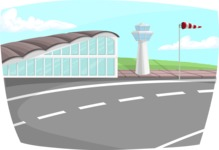 Pin Up Vectors - Mega Bundle - Airport Background