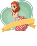 Pin Up Vectors - Mega Bundle - Girl Blowing a Kiss Sticker
