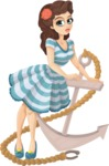 Pin Up Vectors - Mega Bundle - Pin Up Girl With Anchor