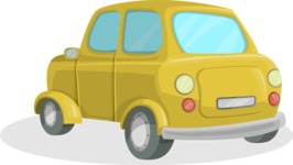 Pin Up Vectors - Mega Bundle - Mini Retro Car