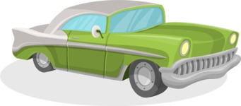 Pin Up Vectors - Mega Bundle - Vintage Car