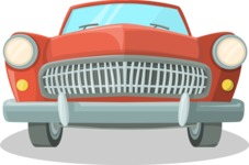 Pin Up Vectors - Mega Bundle - Vintage Volga Car