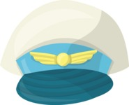 Pin Up Vectors - Mega Bundle - Pilot Captain Hat