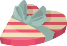 Pin Up Vectors - Mega Bundle - Heart-shaped Gift Box