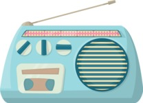Pin Up Vectors - Mega Bundle - Vintage Radio 3