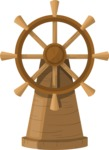 Pin Up Vectors - Mega Bundle - Ship's Wheel on Stand