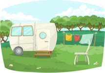Pin Up Vectors - Mega Bundle - Vintage Caravan Outdoors | GraphicMama