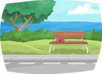 Pin Up Vectors - Mega Bundle - Bench by the Road
